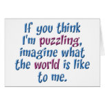 Puzzling World Greeting Card