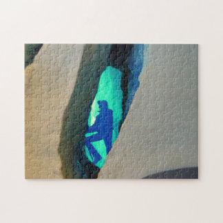 Puzzzle, cueva de hielo rompecabeza con fotos
