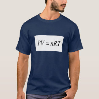 PV=nRT Ideal Gas Law- Mens Dark Tshirt