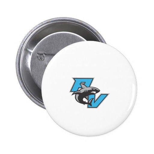 PV Sharks 2 Inch Round Button
