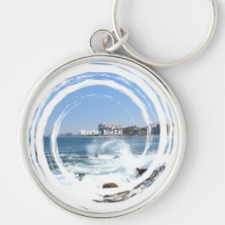 PV View With Crashing Wave; Mexico Souvenir Keychain