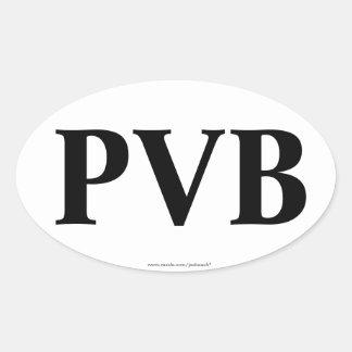 """""""PVB"""" Ponte Vedra beach FL Oval Bumper Sticker"""