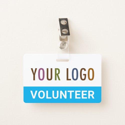 PVC Plastic Volunteer Badge with Clip Custom Logo