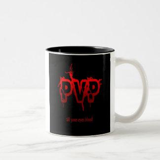 PvP hasta su taza de café de corrimiento de los