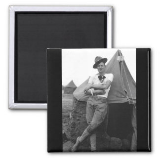 Pvt. Browne, Co. M, 16th Infty., Camp El Valle_War 2 Inch Square Magnet