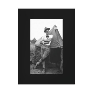Pvt. Browne, Co. M, 16th Infty., Camp El Valle_War Canvas Print