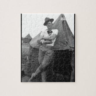 Pvt. Browne, Co. M, 16th Infty., Camp El Valle_War Jigsaw Puzzle