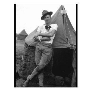 Pvt. Browne, Co. M, 16th Infty., Camp El Valle_War Postcard