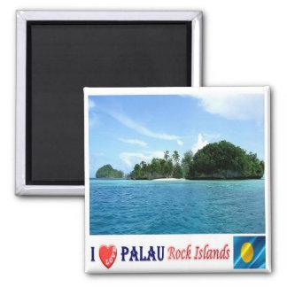PW - Palau - Rock Islands - I Love 2 Inch Square Magnet