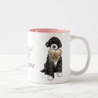 PWD Heart Mom Two-Tone Coffee Mug