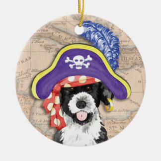 PWD Pirate Double-Sided Ceramic Round Christmas Ornament