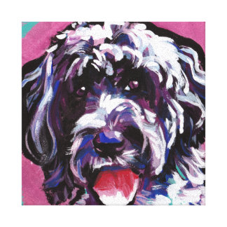 pwd Portuguese water dog pop dog art Canvas Print