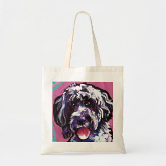 pwd Portuguese water dog pop dog art Tote Bag
