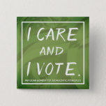 "PWDP I care pin<br><div class=""desc"">I care and I vote.  Button pin.</div>"