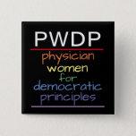"PWDP Rainbow Button<br><div class=""desc"">PWDP Rainbow pin,  2-inch square button</div>"