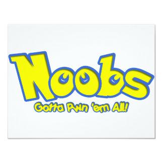 "Pwn Noobs 4.25"" X 5.5"" Invitation Card"
