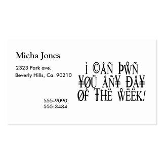 Pwn usted cualquier día tarjetas de visita