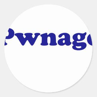 Pwnage Classic Round Sticker