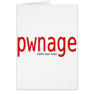 pwnage tarjeta de felicitación