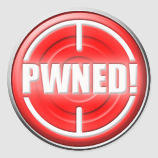 PWNED Button Stickers