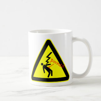 Pwned by High Voltage Hazard Sign Mug