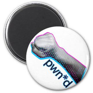 Pwned Gamer Tshirt 2 Inch Round Magnet