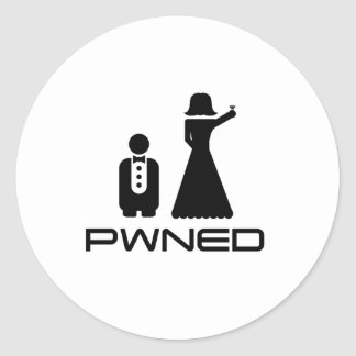 PWNED Marriage Classic Round Sticker
