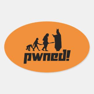 Pwned! Oval Sticker