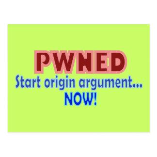 Pwned Pwn Owned Gamer Origin Design Postcard