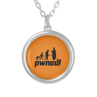 Pwned! Round Pendant Necklace
