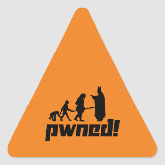 Pwned! Triangle Sticker