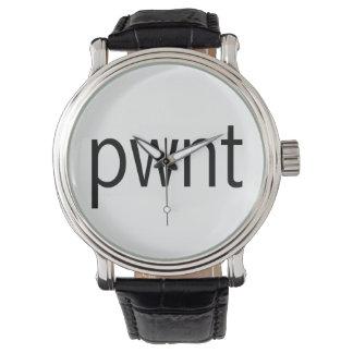 pwnt Black Wrist Watch