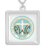 PWOC logo necklace