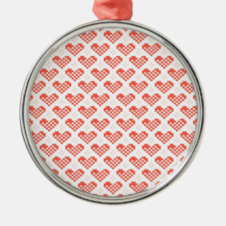 PX Heart Round Metal Christmas Ornament