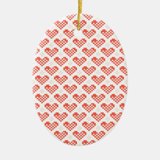 PX Heart Double-Sided Oval Ceramic Christmas Ornament