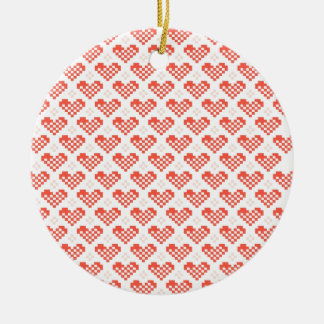 PX Heart Double-Sided Ceramic Round Christmas Ornament