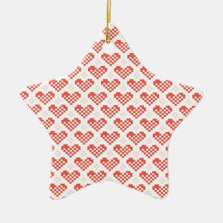 PX Heart Double-Sided Star Ceramic Christmas Ornament