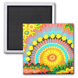 Pychedelic Sunset Vintage 60's Magnet