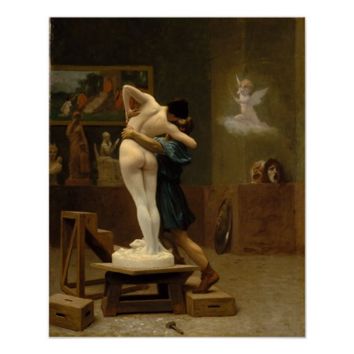 Pygmalion and Galatea by Jean-Leon Gerome Print