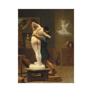 Pygmalion y Galatea por Jean-León Gerome Impresion En Lona