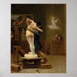 Pygmalion y Galatea por Jean-León Gerome Póster