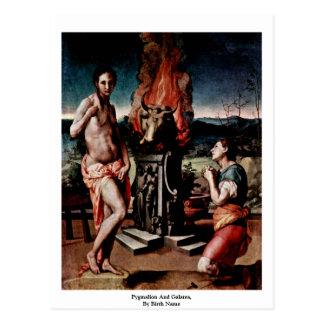 Pygmalion y Galatea por nombre del nacimiento Tarjetas Postales