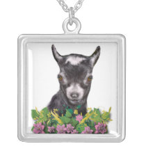 Pygmy Goat Floral Necklace