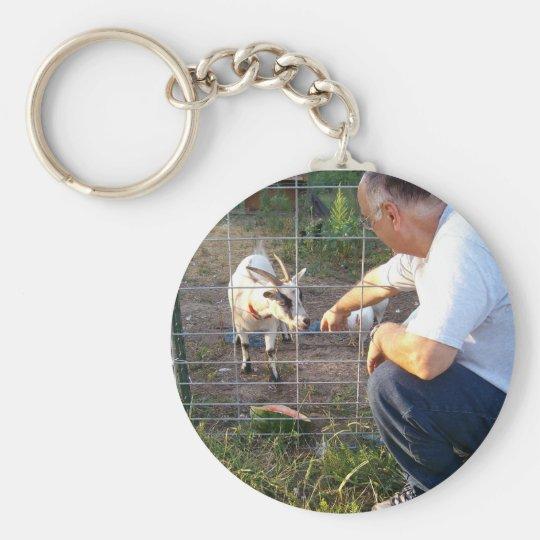 Pygmy goat keychain