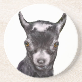 Pygmy Goat Sandstone Coaster