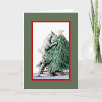 Pygmy Goat Sketch  Christmas Card