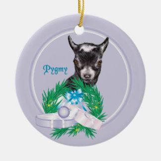 Pygmy Goat Wreath Holiday Ornament