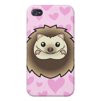 Pygmy Hedgehog Love (add your own background!) Cases For iPhone 4