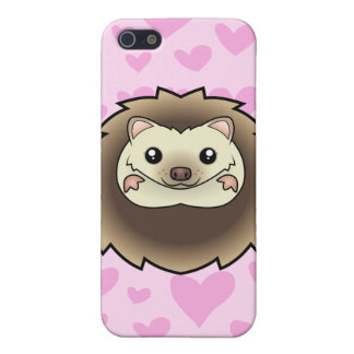 Pygmy Hedgehog Love (add your own background!) iPhone 5 Case