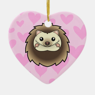 Pygmy Hedgehog Love add your own message Christmas Ornaments